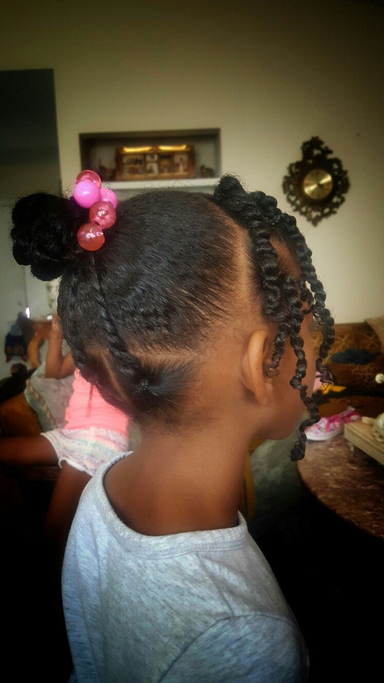 Simple Hair Styles For Little, Black Girls Braids, Beads -4381