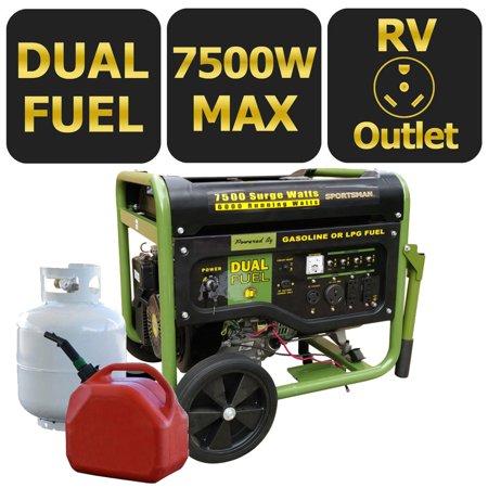Sportsman 7500W Dual Fuel Generator, Green | Products in 2019 | Dual