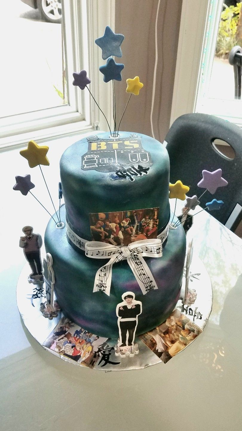 Bts Army Vest Edible Cake Topper Bts Birthdays Bts Cake Edible Cake Toppers