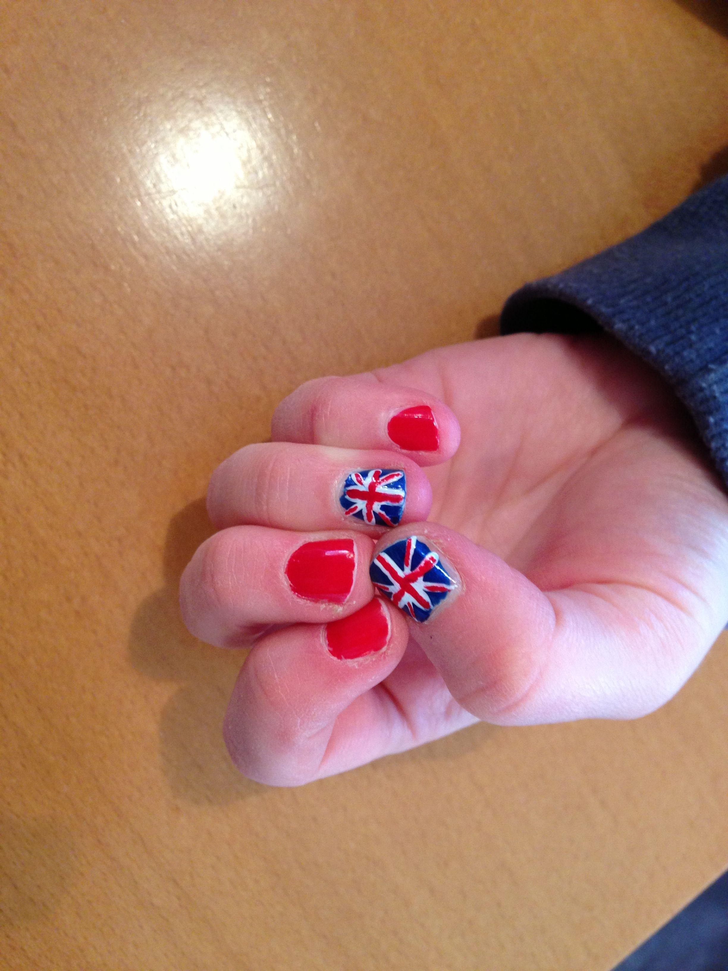 England Nail Art Nails Pinterest