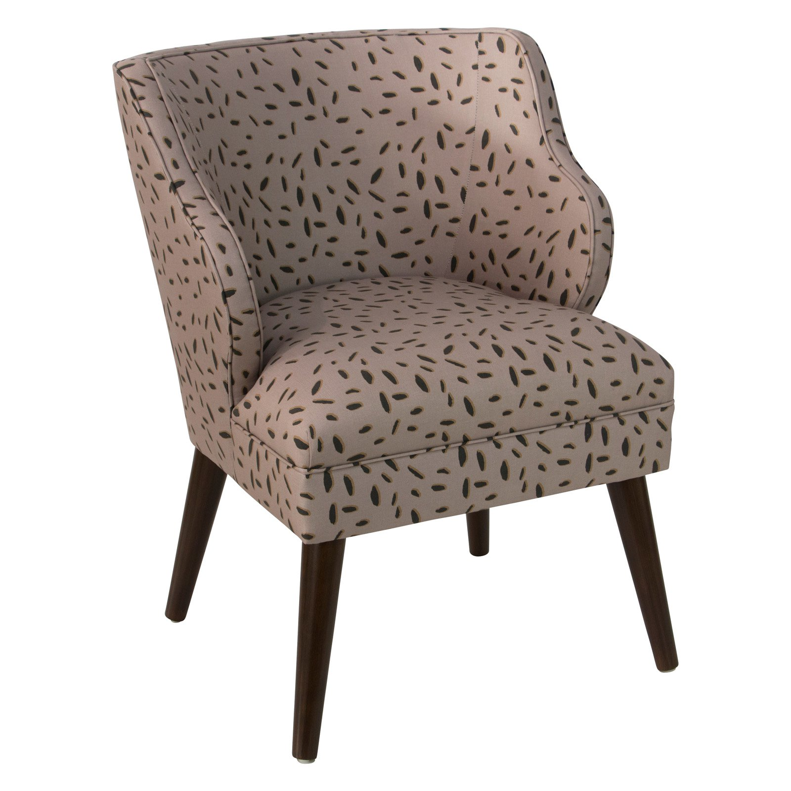 Skyline Furniture Inked Dot Modern Accent Chair Accent Chairs