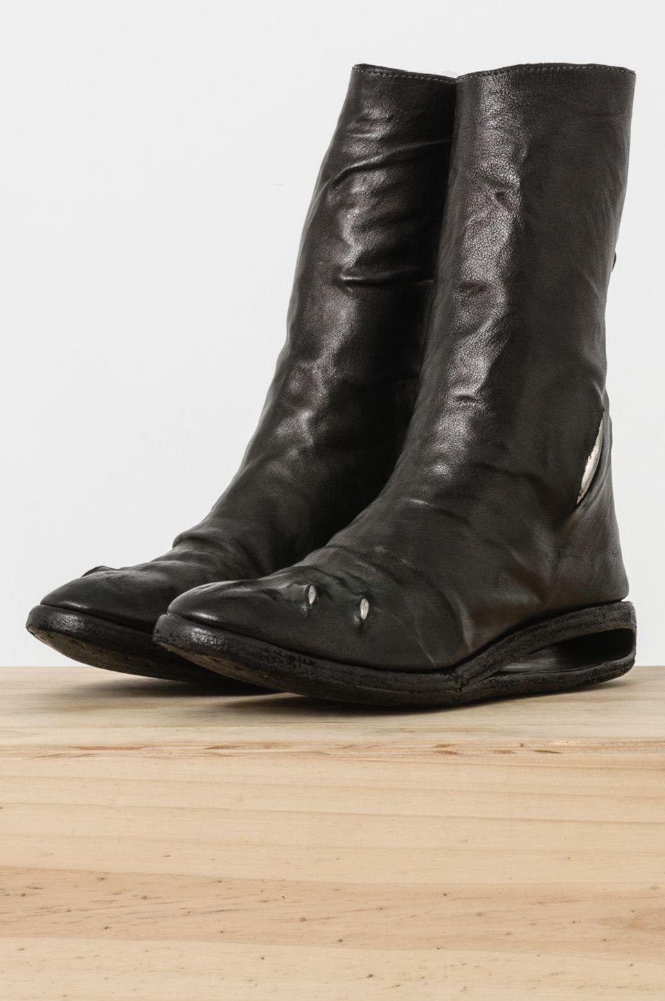 5558de9795a5d2 virginia-wolf-snake Carol Christian Poell kangaroo leather and titanium  boots
