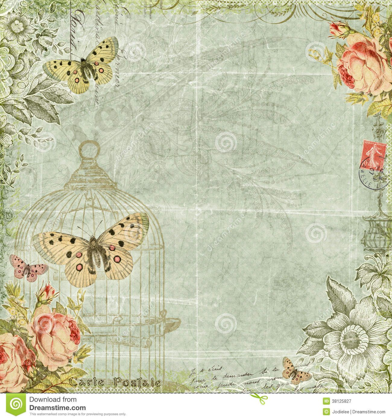 Vintage Shabby Chic Backgrounds Free | Fav ephemera ...