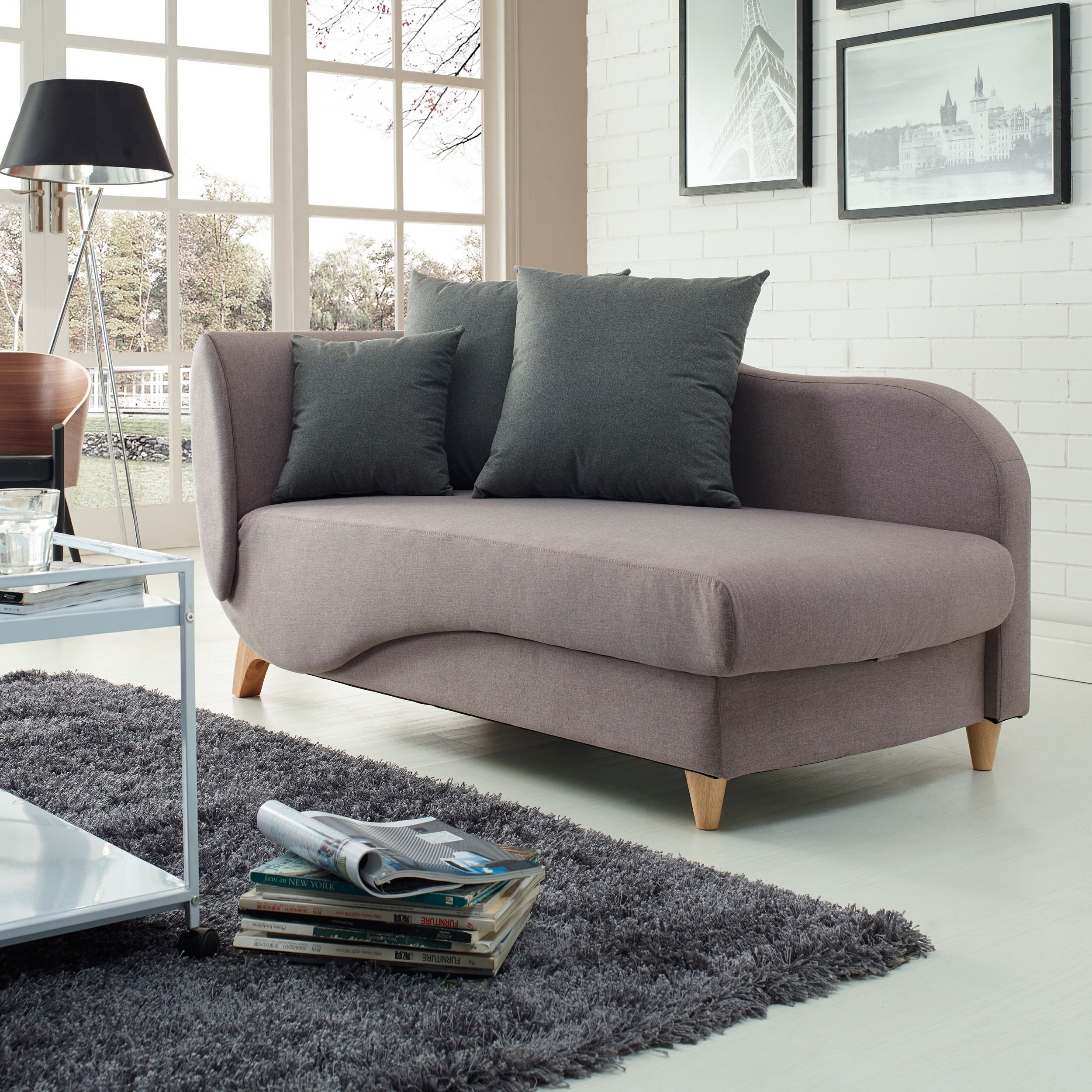 This highly stylish sofa bed bines looks function and highest