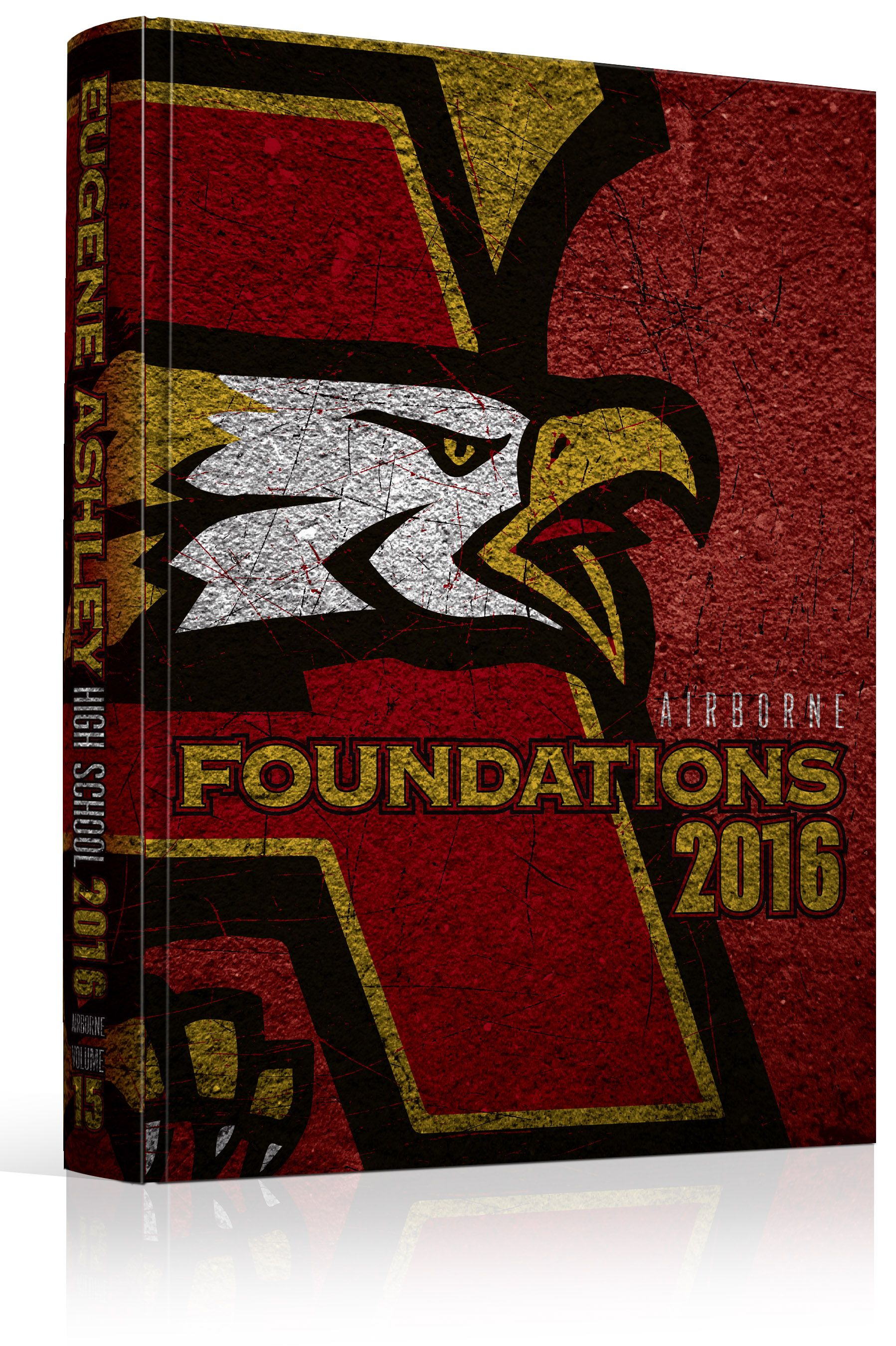 yearbook cover eugene ashley high school foundations theme