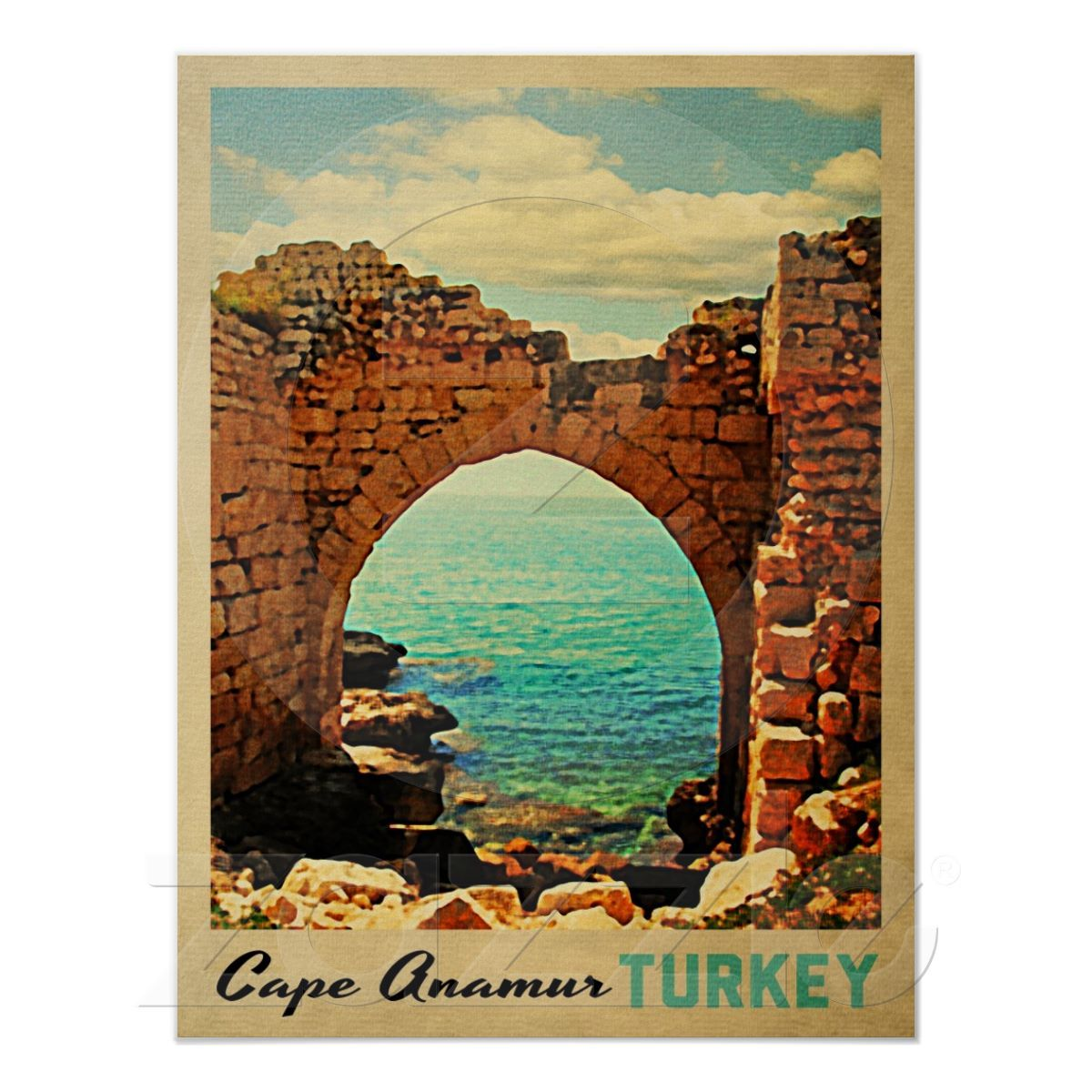 Zazzle poster design - Cape Anamur Turkey Poster From Zazzle Com