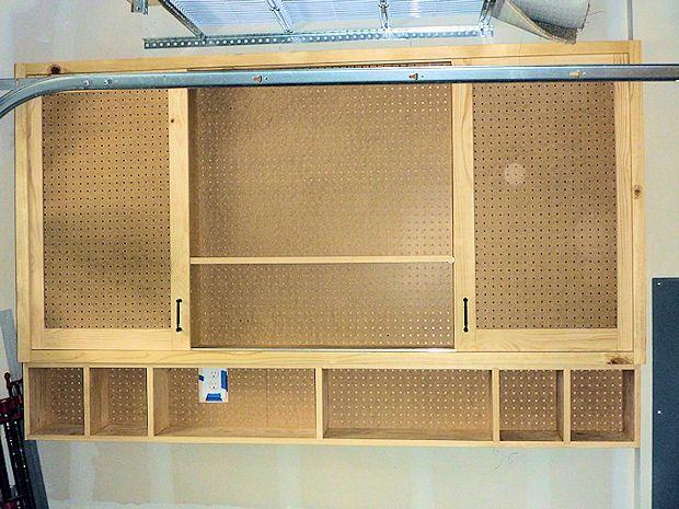 Superbe Sliding Door Pegboard Cabinet   Woodworking Talk   Woodworkers Forum