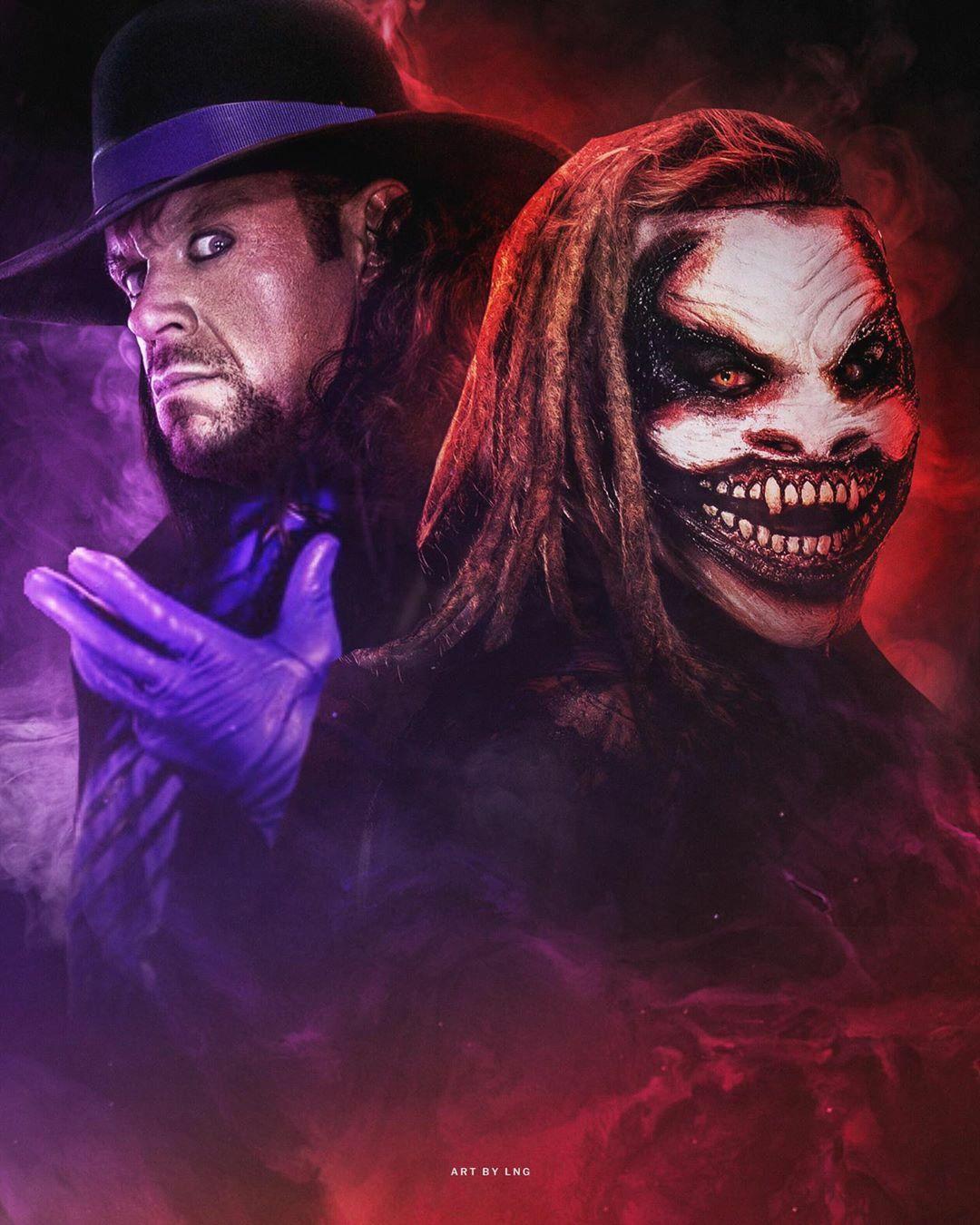 The Fiend Bray Wyatt Vs The Undertaker Undertaker Wwe Wwe Wallpapers Undertaker