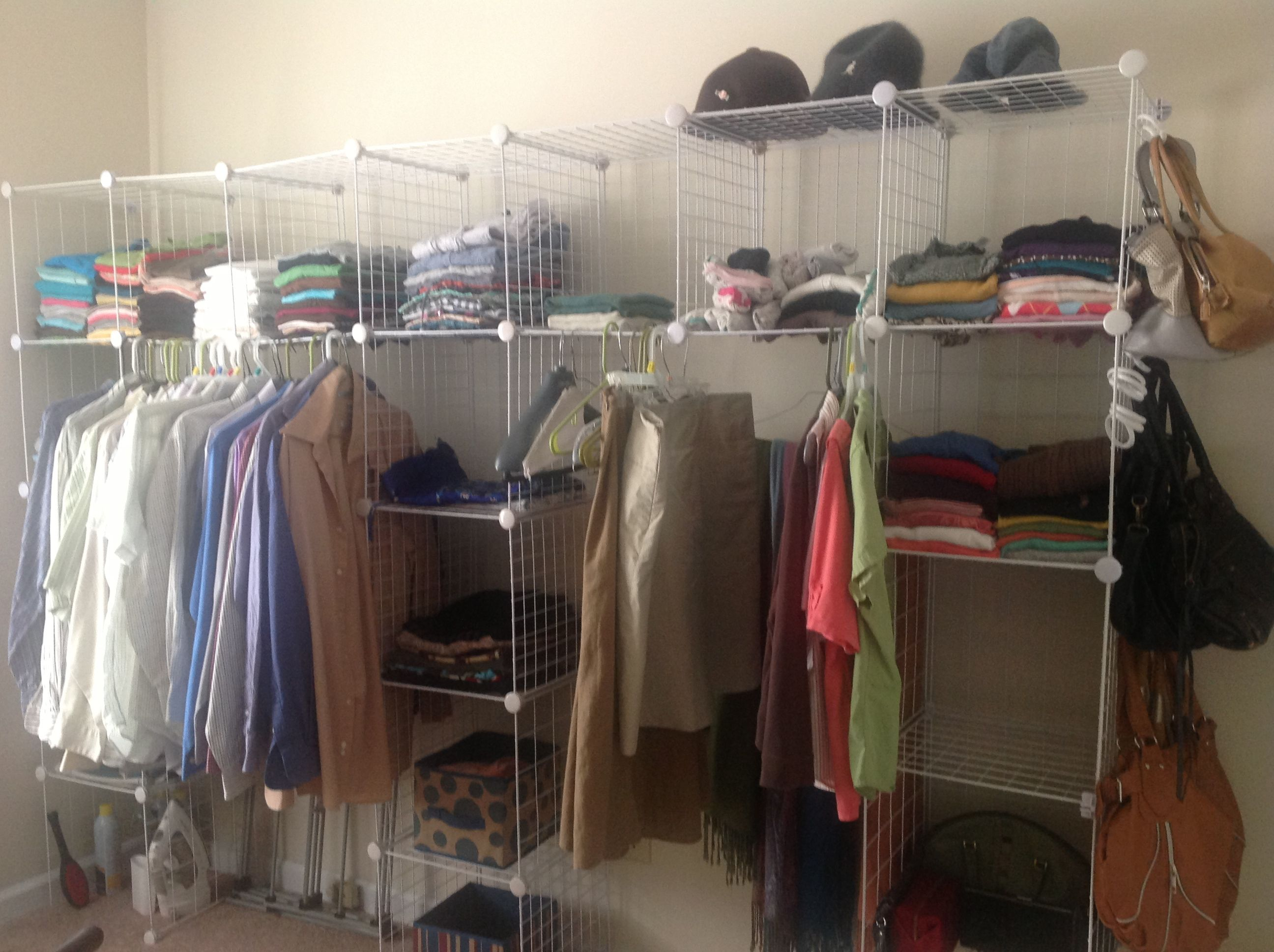 Closet Maid Cube Wire Organizer .....if You Have A Problem Folding