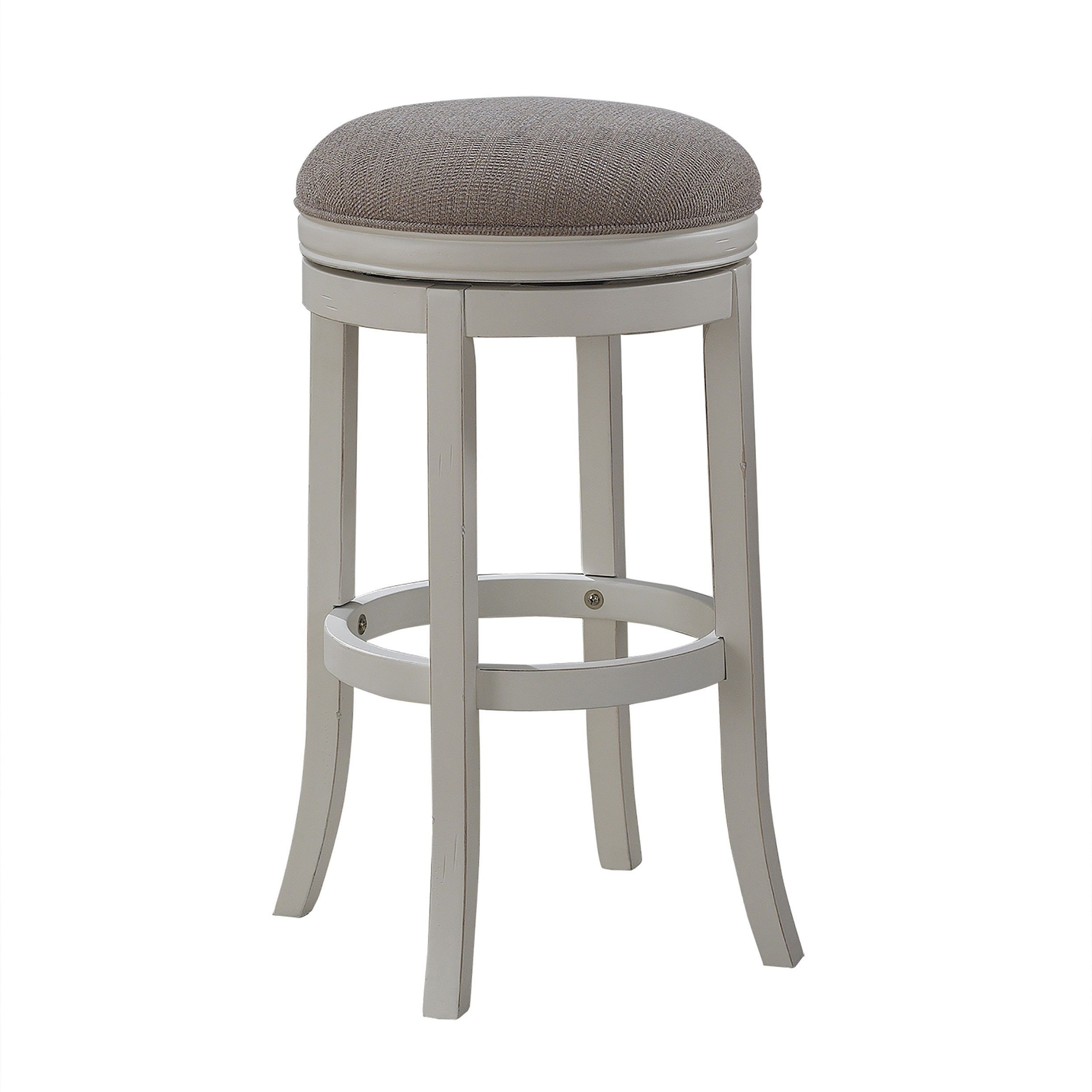 The coastal style of the pesaro counter stool is evident in the distressed antique white finish Counter seating