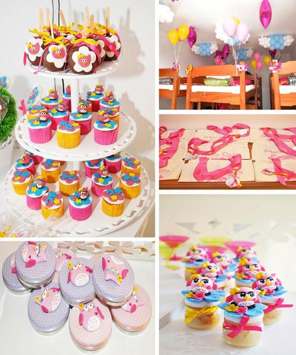 Night Owl Sleepover Ninth Birthday Party Supplies Ideas Cake Idea