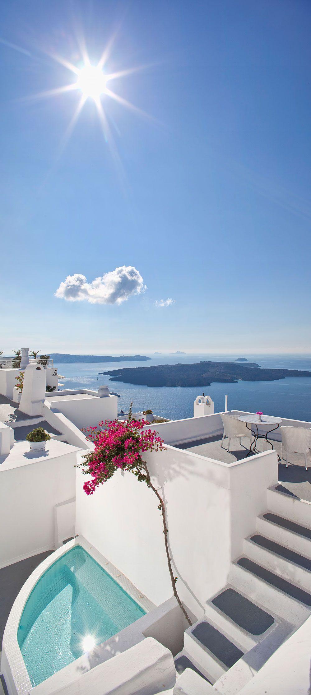 Santorini Greece Cliff Side Hotel Suites In Firostefani