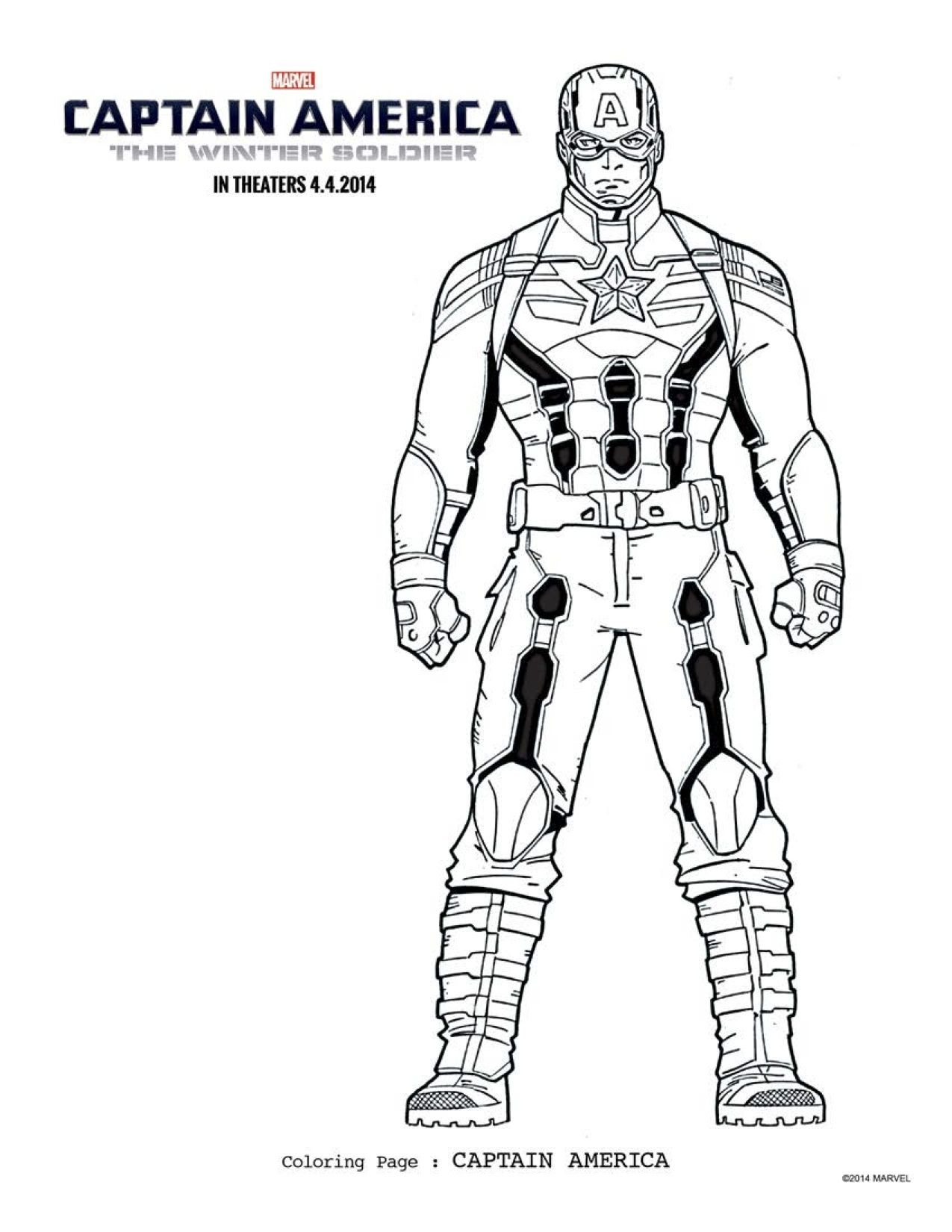 FREE Captain America Coloring Pages: Download Printables