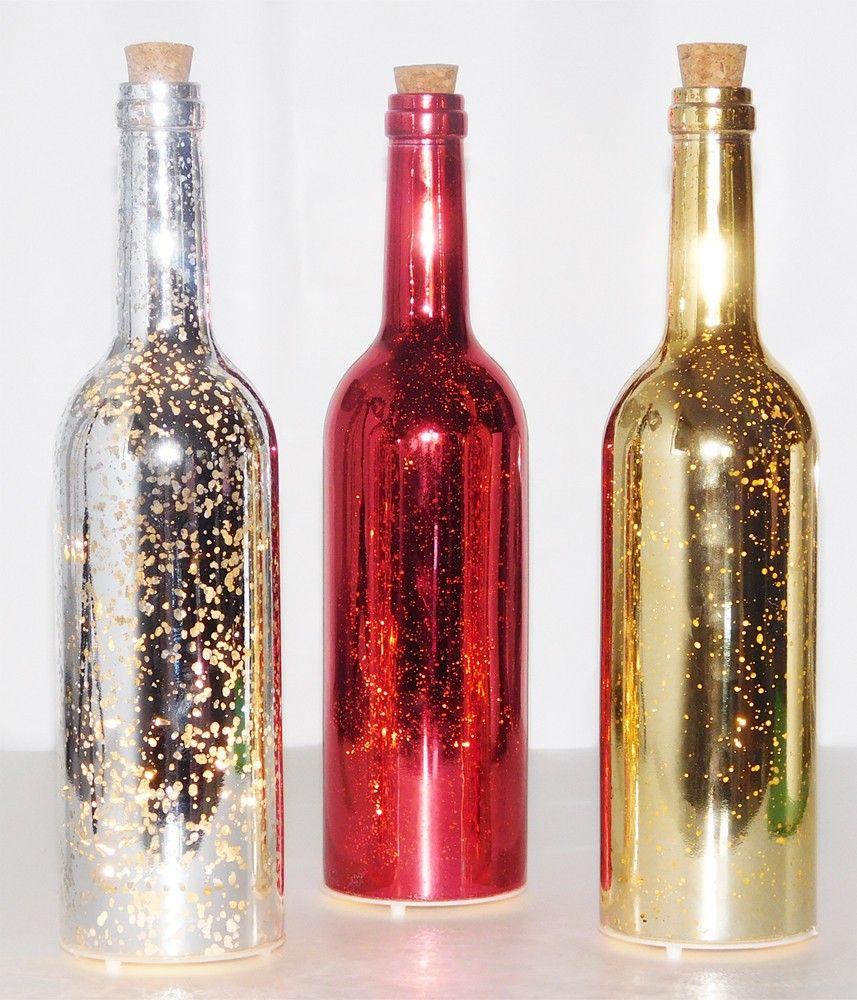 Port Style Enterprises Wine Bottle With Lights Metallic Golda S Kitchen Lighted Wine Bottles Bottle Lights Bottles Decoration