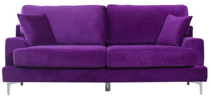 7 Beautiful Purple Sofas For Your Living Room Cute Furniture Purple Sofa Purple Velvet Sofa Sofa Colors