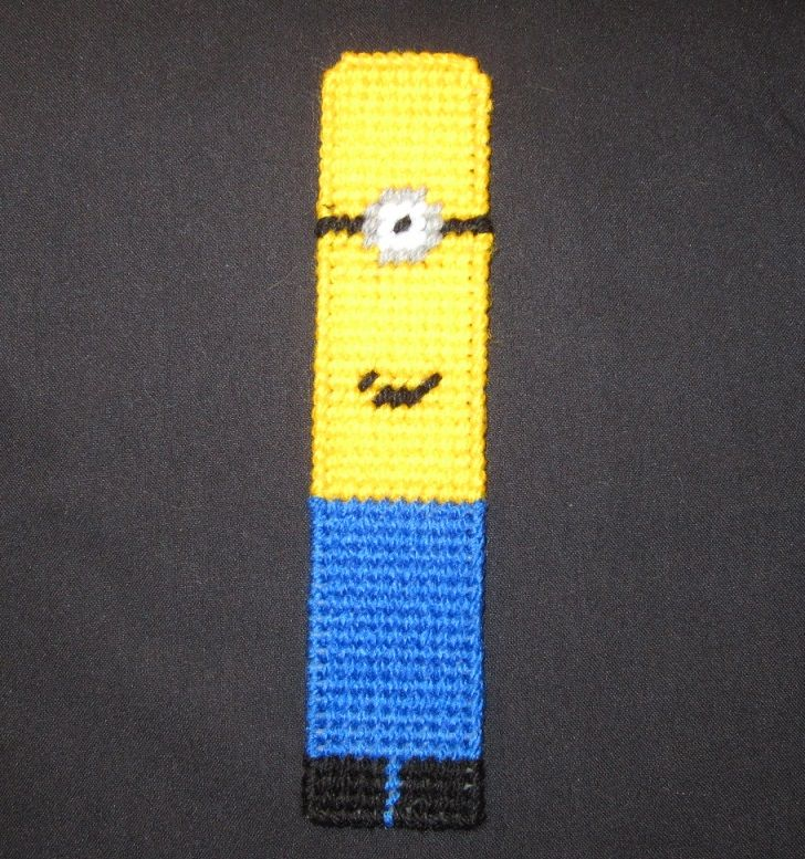 Minion Bookmark From Despicable Me Made From Plastic Canvas ...