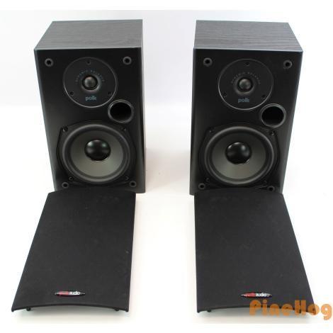 For Sale Polk Audio T15 2 Way 100 Watt Bookshelf Wall Mount Speakers Pair Black Polk Audio Wall Bookshelves Watt