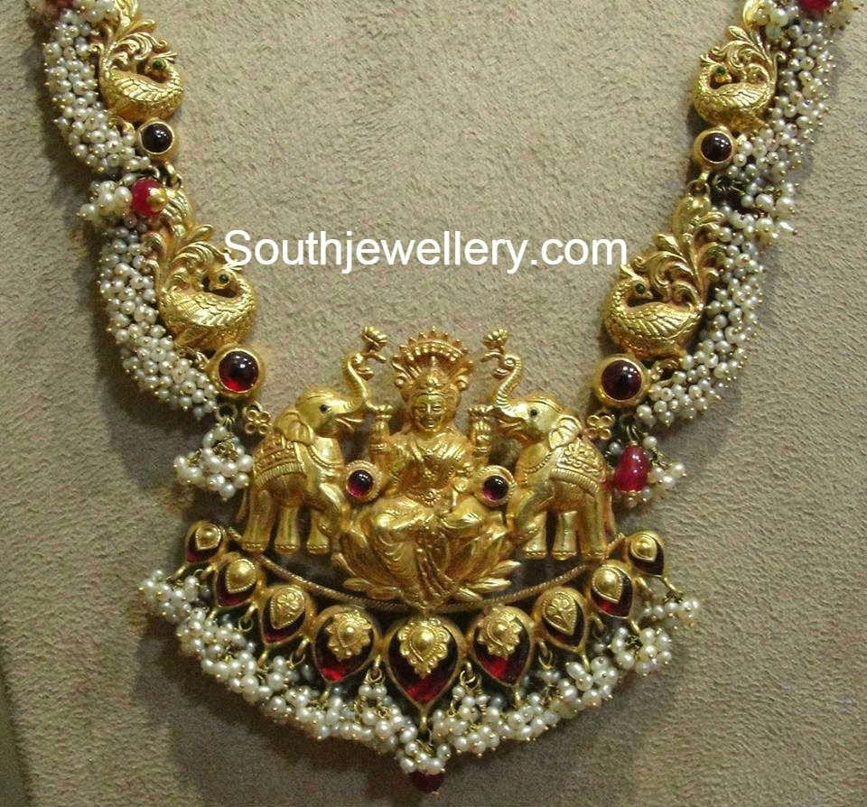Gold necklace latest jewellery designs manjula jewels