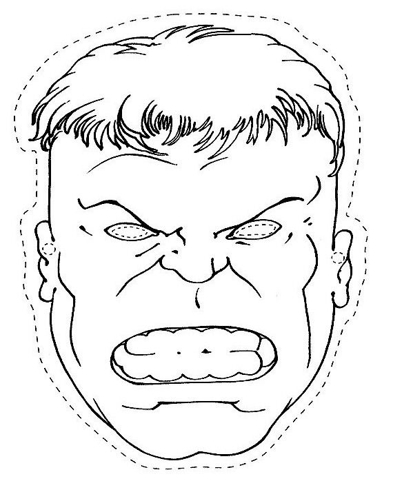 The Head Of The Hulk Coloring Page For Kids Hulk Coloring Pages Hulk Birthday Parties Hulk Birthday
