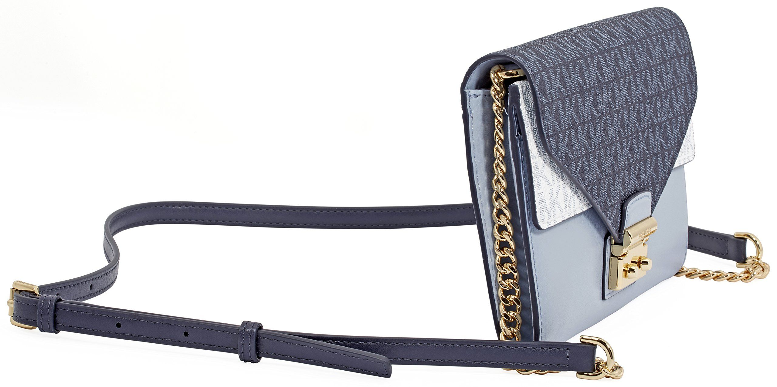 b38c3e047f001f Michael Kors Sloan Large Leather Chain Wallet Pale Blue/Admiral >>> Learn  more evaluations of the product by going to the link on the picture.