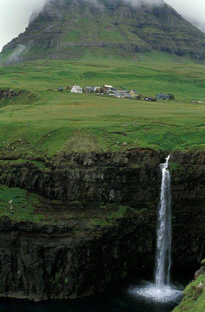Waterfall, Faroe Islands want to go to there Pinterest Faroe