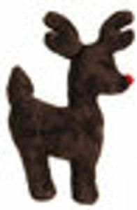 West Paw Design Ruff N Tuff Reindeer Squeak Toy For Dogs Holiday