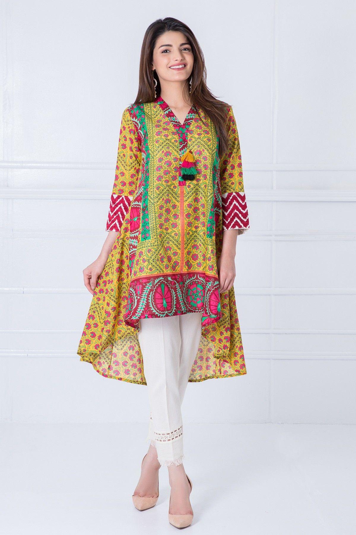 44854d07a Khaadi – Embroidered Kurta - Prêt