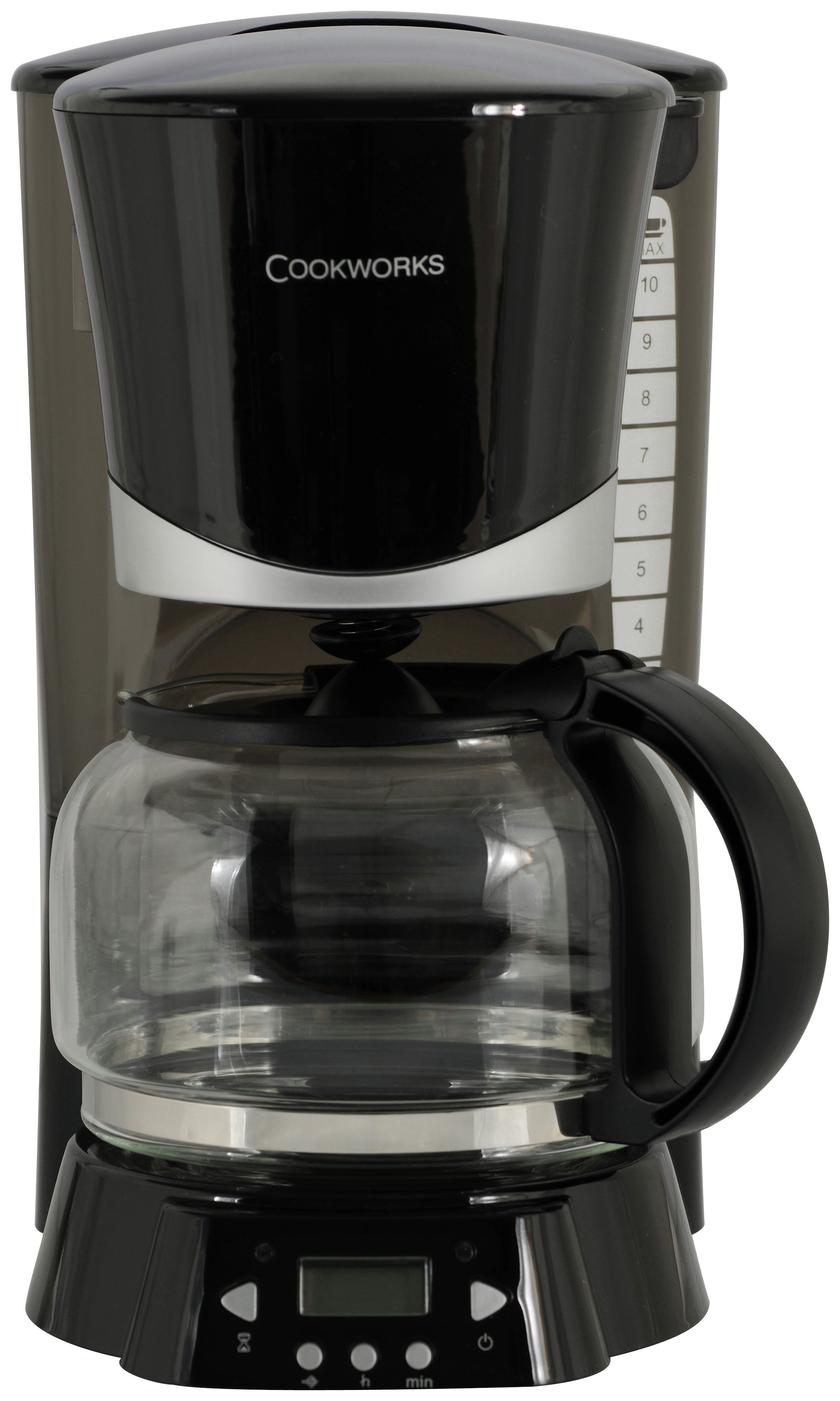 Cookworks Black Filter Coffee Machine Serves Up Delicious