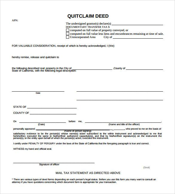 Quitclaim Deed Forms Samples Examples Amp Format Michigan Quit Claim Form  Sample Templates