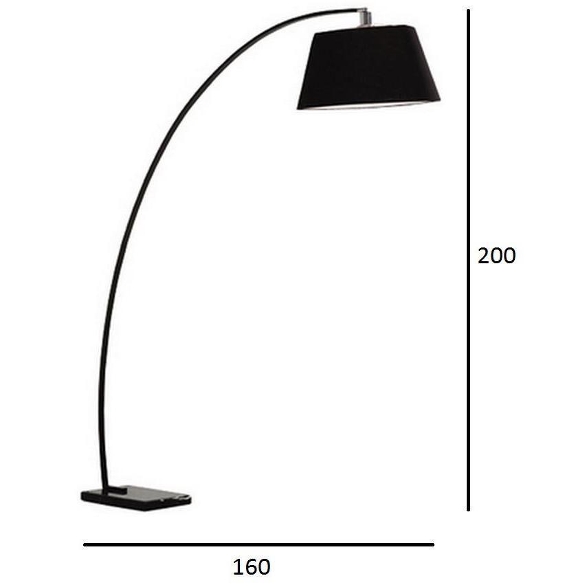 Curve Lampadaire en métal Drawer