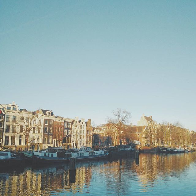 It's a cold and frosty and chuffing beautiful morning in Amsterdam ❄😍❄🌞❄
