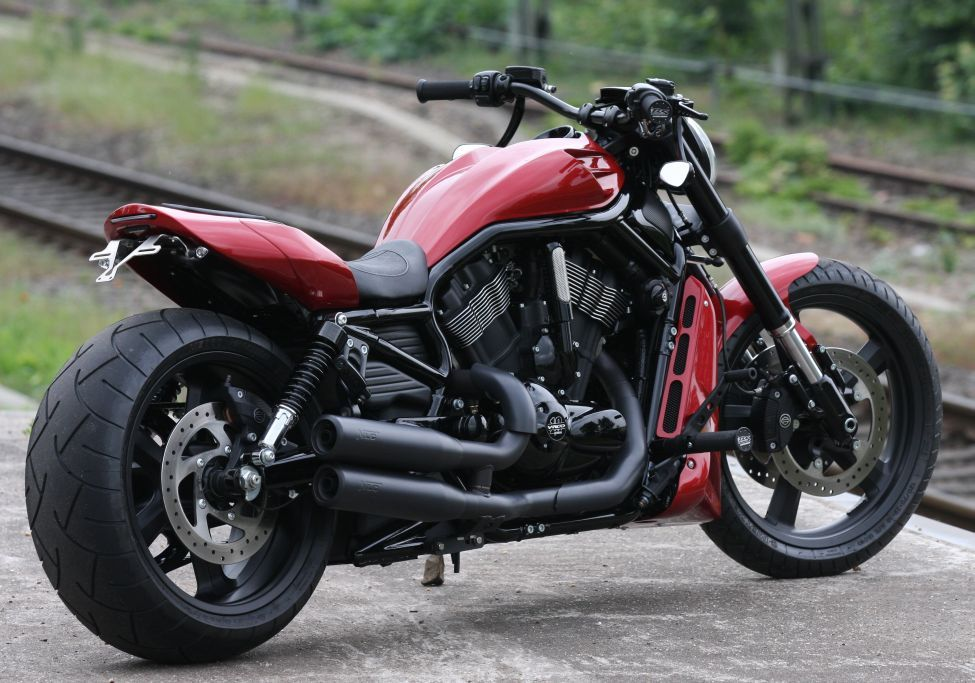 Thunderbike Red Rod H D Night Rod Vrscd X Custom Umbau Harley Davidson Night Train Harley V Rod Harley Davidson Scrambler