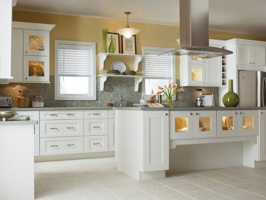 The Clean Lines And Modern Feel Of Kemper Echou0027s Crosby Door Style Make  This Kitchen A