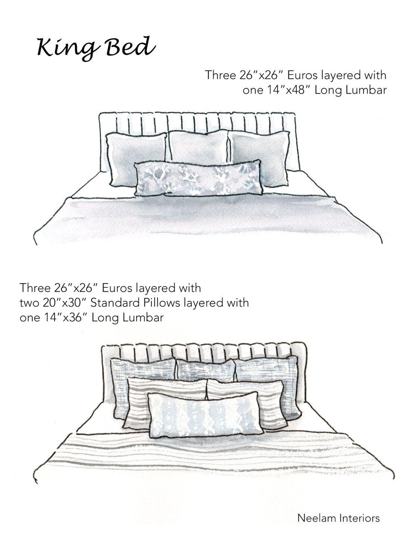 Design Tip Styling Pillows On Beds Patterns Prosecco Bed Pillow Arrangement Bed Pillows Bedroom Pillows Arrangement