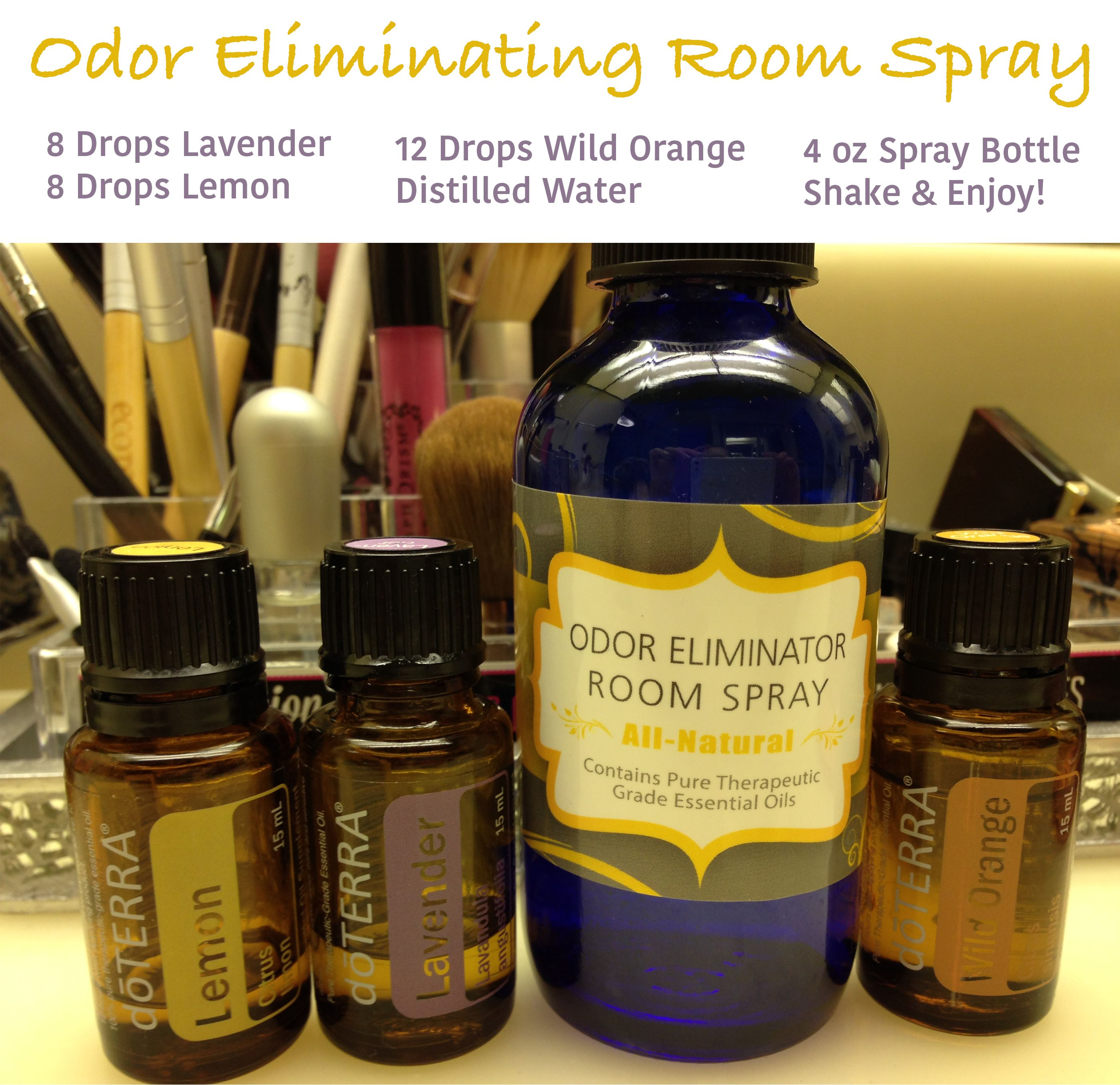 DIY Room Odor Eliminator With DoTERRA Essential Oils Great For The - Bathroom odor spray