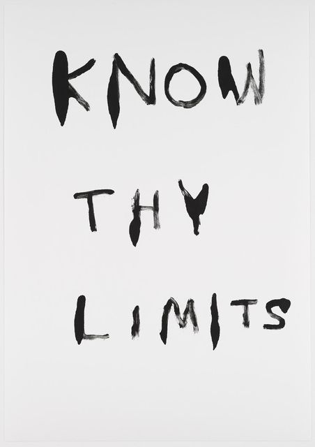 Untitled (Know Thy Limits)