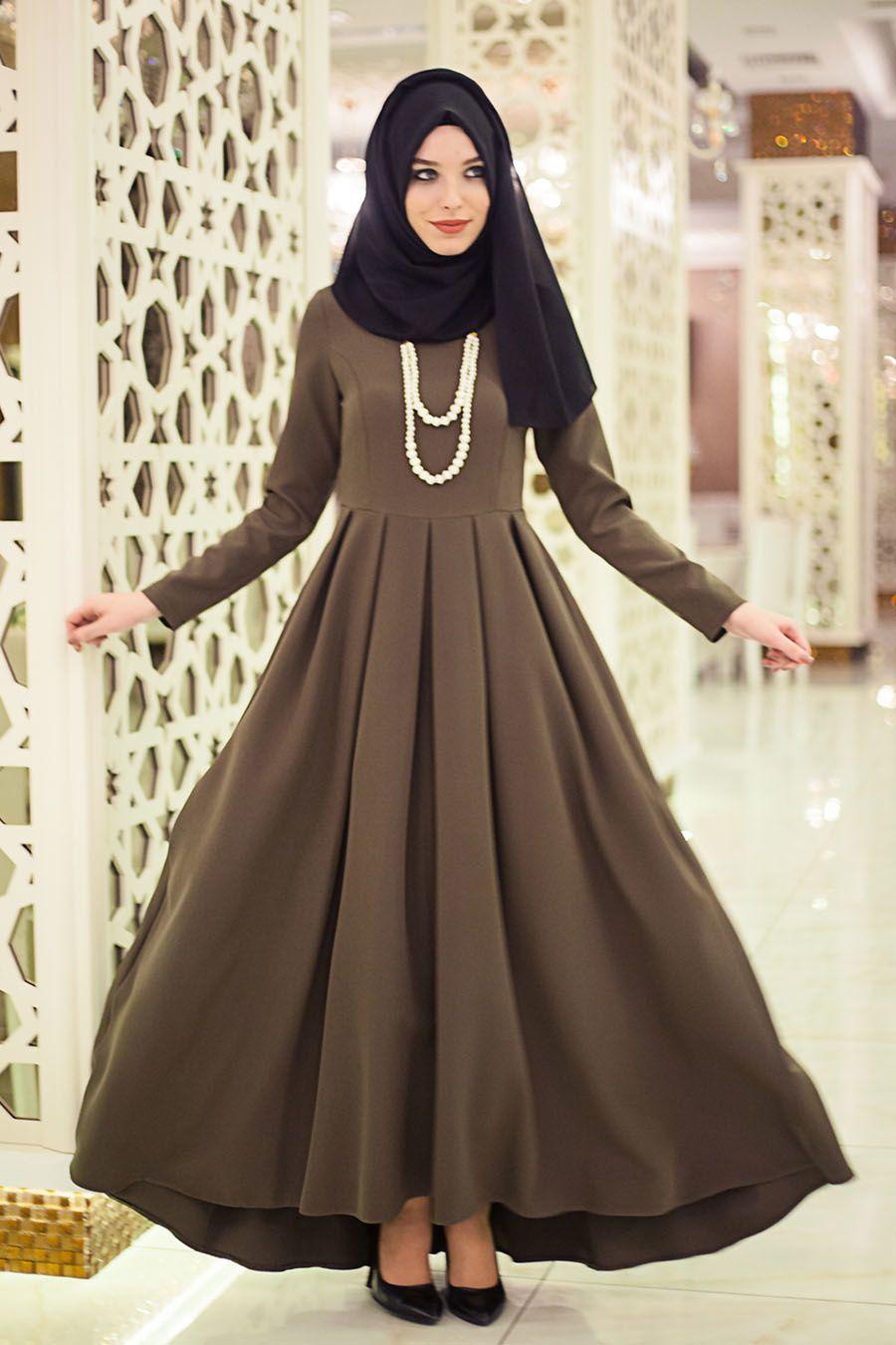 En Sik Tesettur Boydan Elbise Modelleri Moda Tesettur Giyim Elbise Modelleri Elbise The Dress