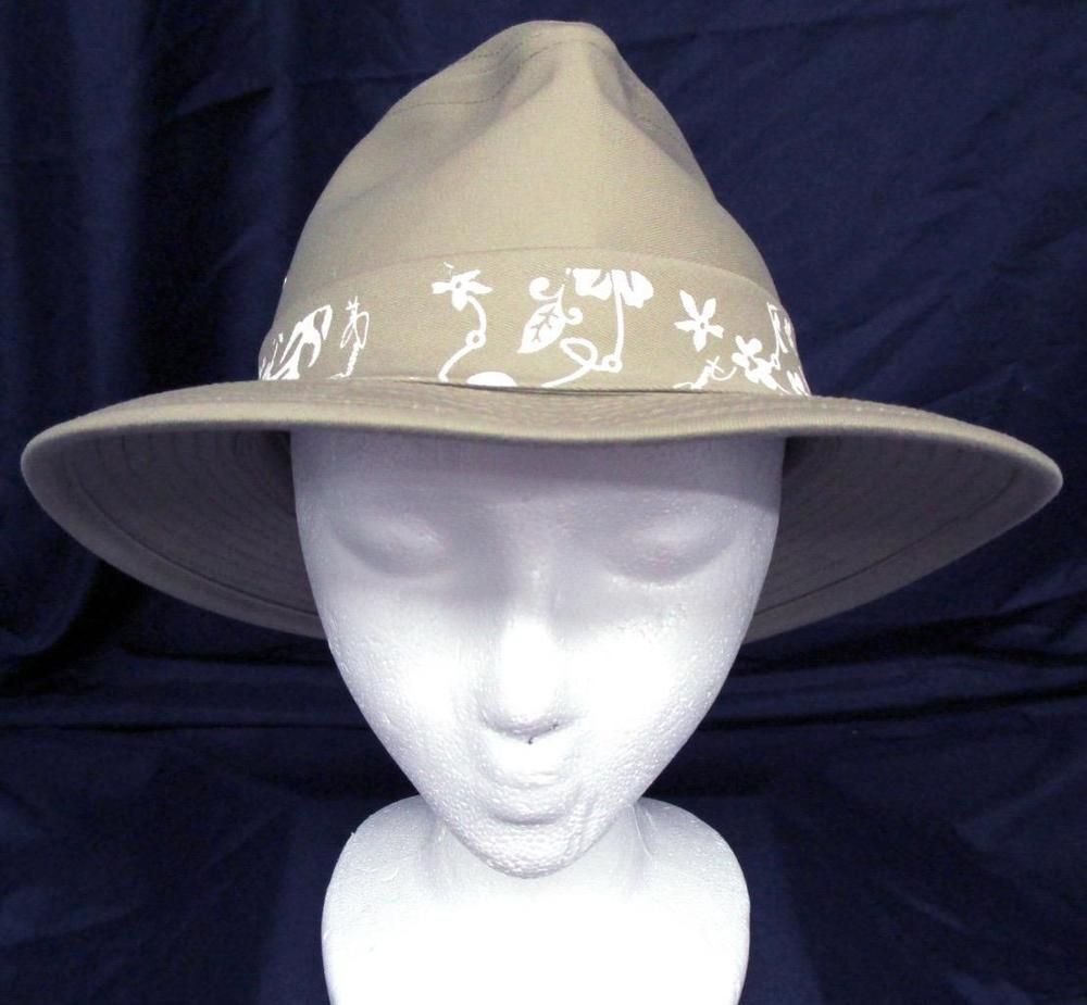 83fa89377195f0 Mens Panama Jack Khaki Canvas Safari Hat Size Medium New Made in USA # PanamaJack #PanamaHat