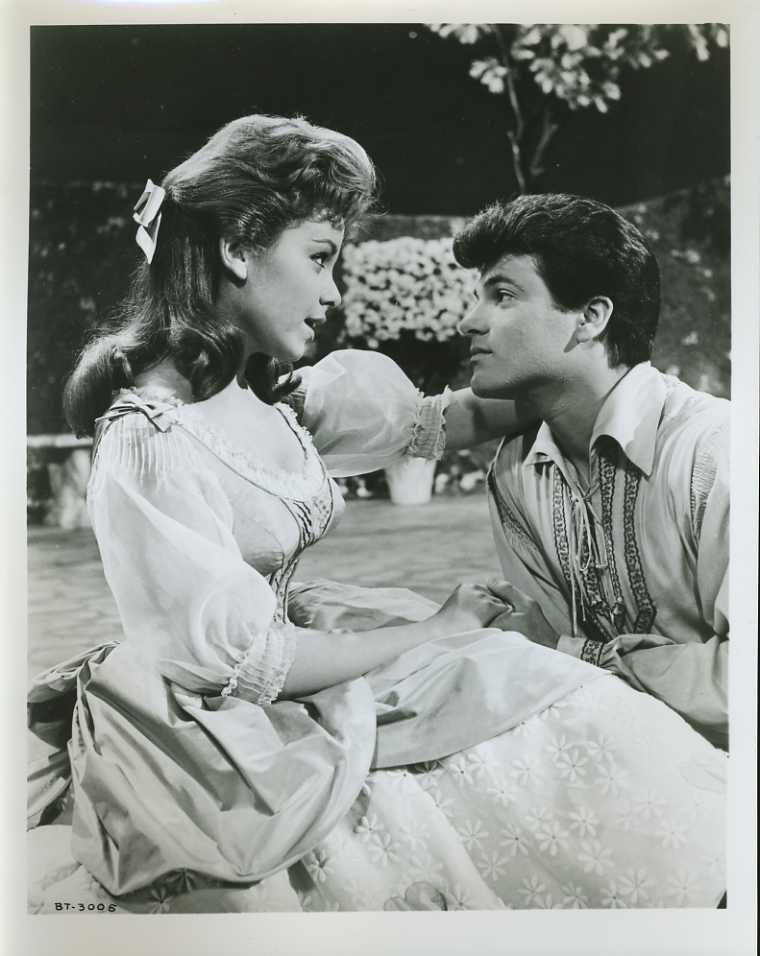 "Mary Timbucktoo (Annette Funicello) and Tommy Constantinople (Tommy Sands) in Walt Disney's stop-motion feature film classical balletic operetta ""Babes in Toyland"" (1962 (1963)), Buena Vista."