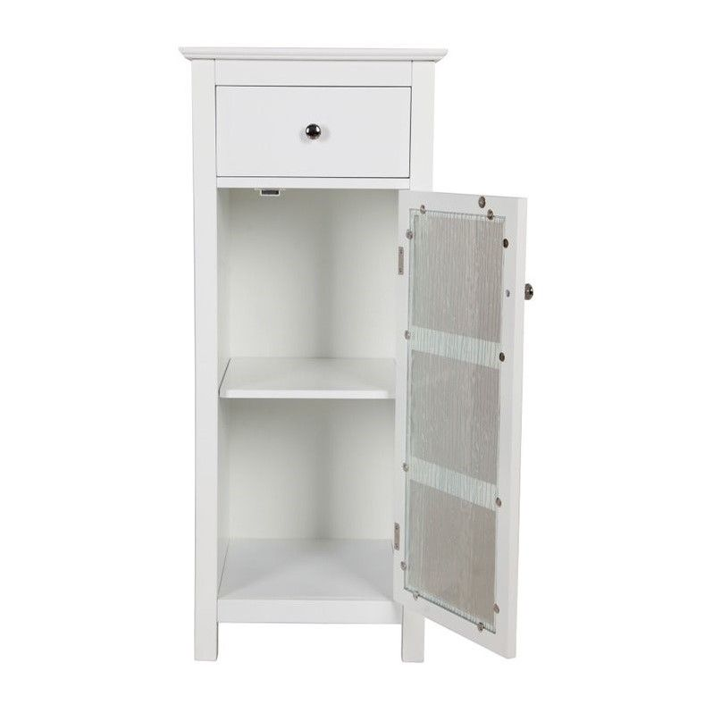 Elegant Home Fashions Connor 1 Door Floor Cabinet In White Elegant Homes House Styles Mdf Furniture