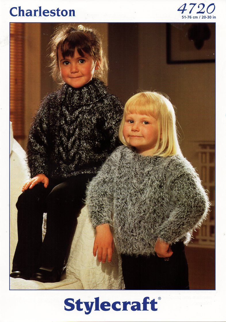 original baby child childrens mohair sweaters knitting pattern ...