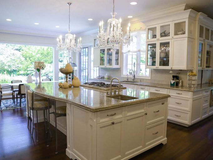 Dramatic Touches Shine In Quad Level Turned French Mansion House Beautiful Magazine Kitchen Home Home Remodeling