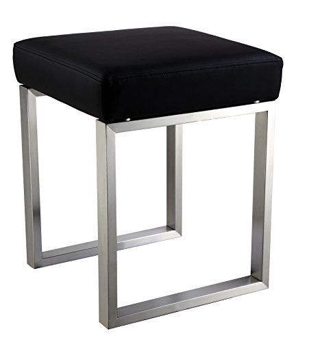 Kids Ottomans Cortesi Home Tilio Stainless Steel Stool In Black