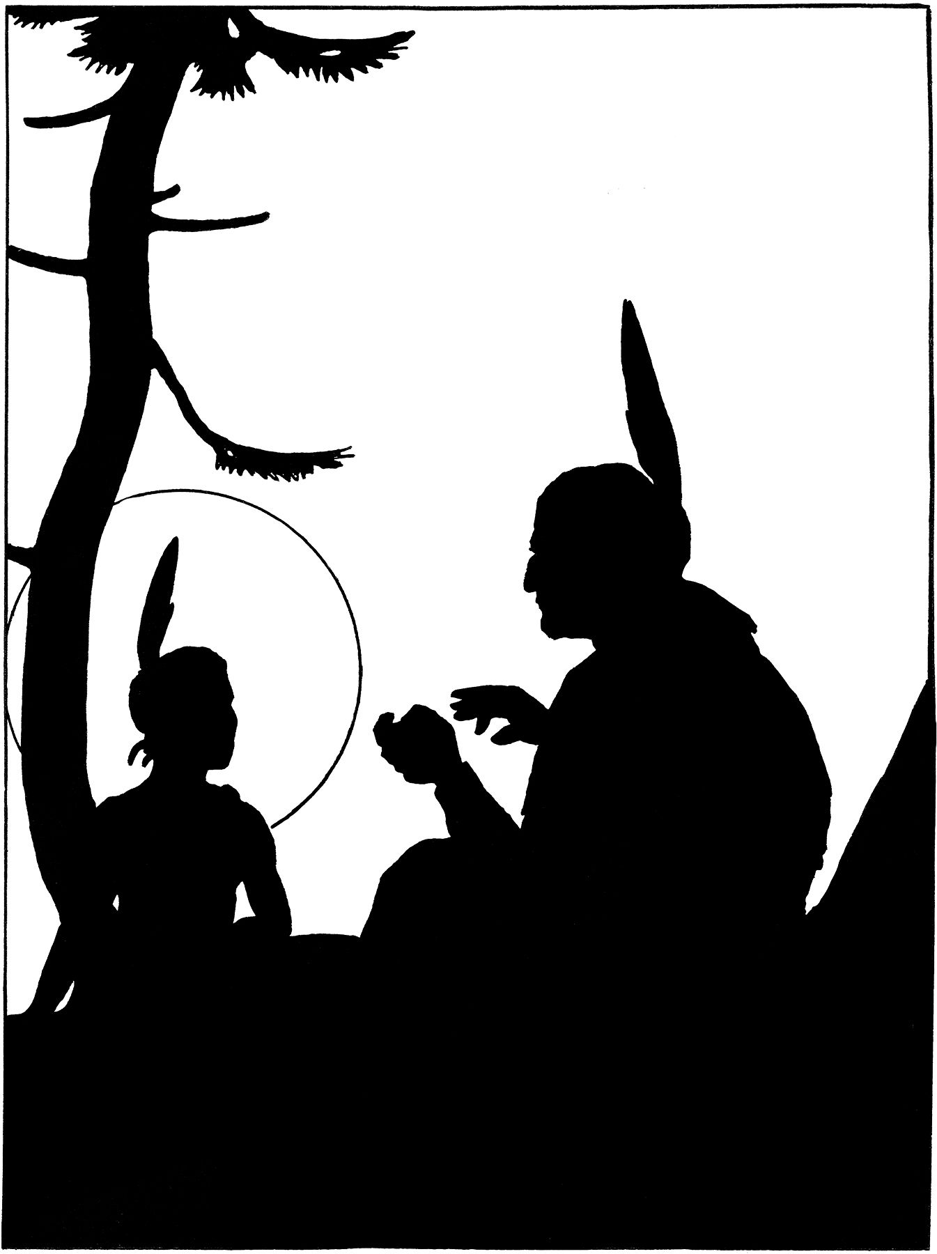 Vintage Native Americans Image - Silhouette   Native american ...