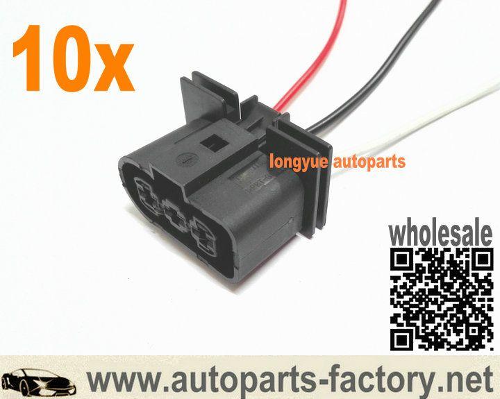 longyue 10pcs radiator fan connector plugs w wiring 1j0 906 233 rh pinterest com