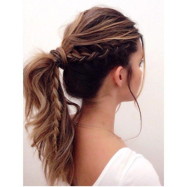 30 Trendy Cute Updos For A Classy Woman Hairstylezz Braided Ponytail Hairstyles Cute Hairstyles For Medium Hair Long Hair Styles