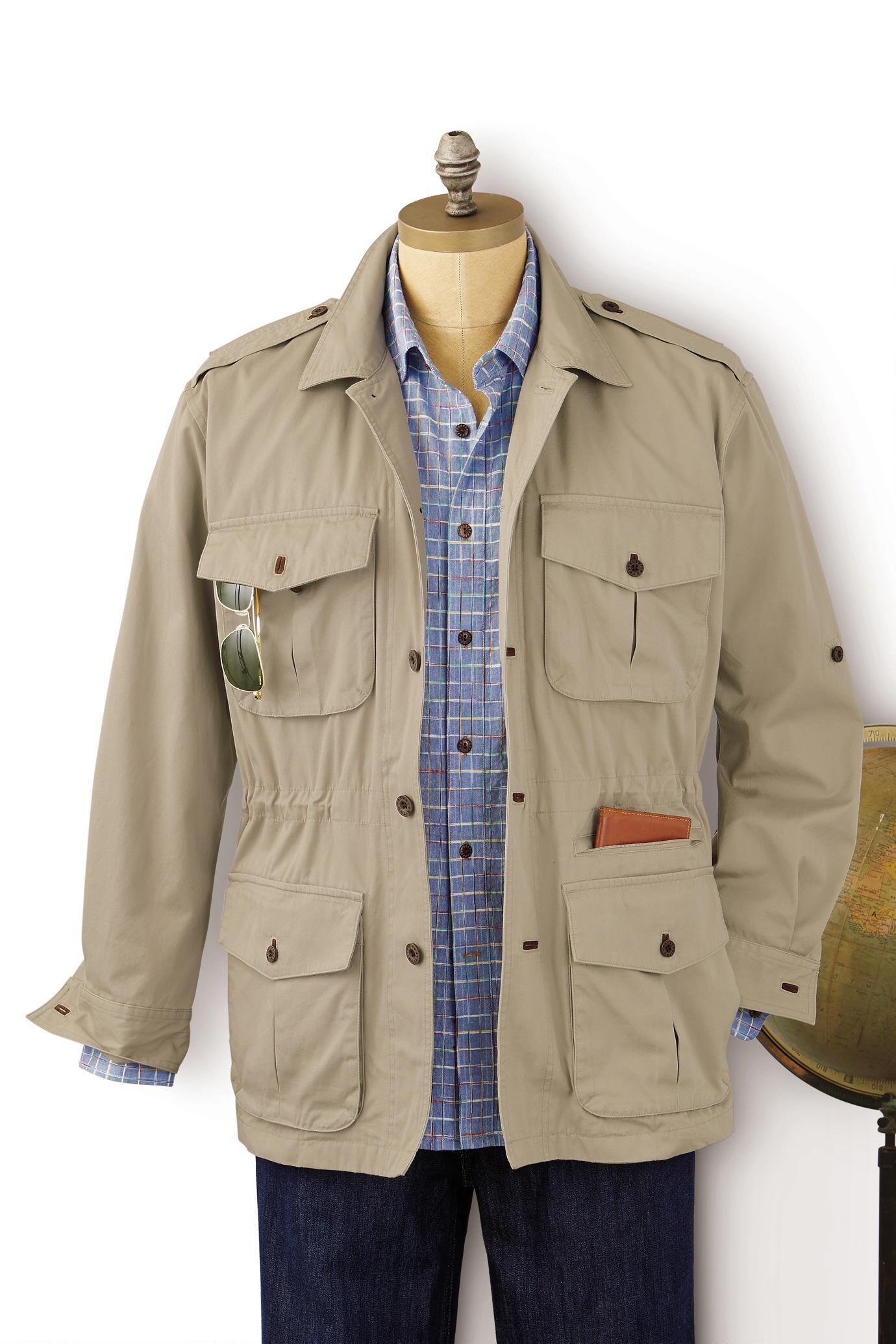 0478ee1962 Bush Poplin Safari Jacket: #Travelsmith $139.00 - $149.00   Abba in ...