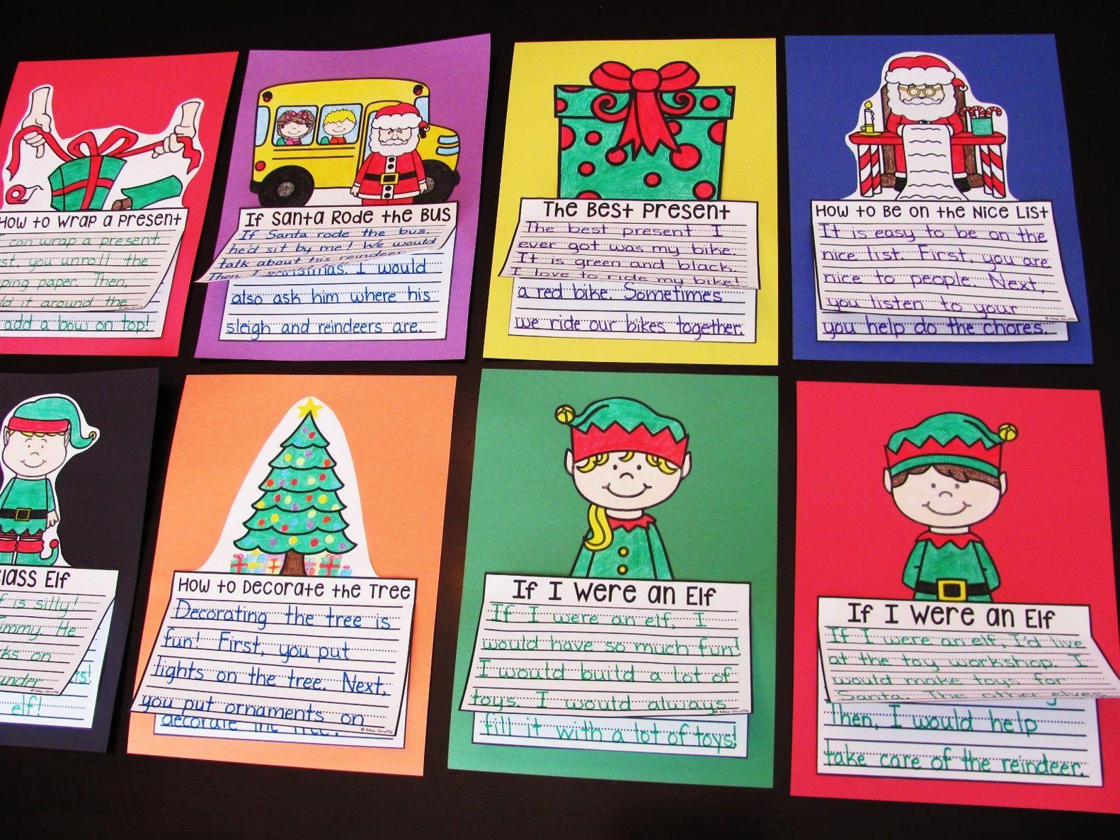 Christmas Writing Crafts Bundle 14 No Prep Writing