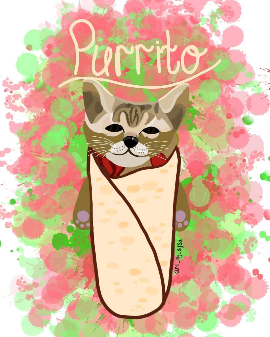 New The 10 Best Home Decor With Pictures A Request For Emma Fosters I Loved This Idea Of A Burrito Cat Purrito Pur Cat Art Digital Drawing Cat S