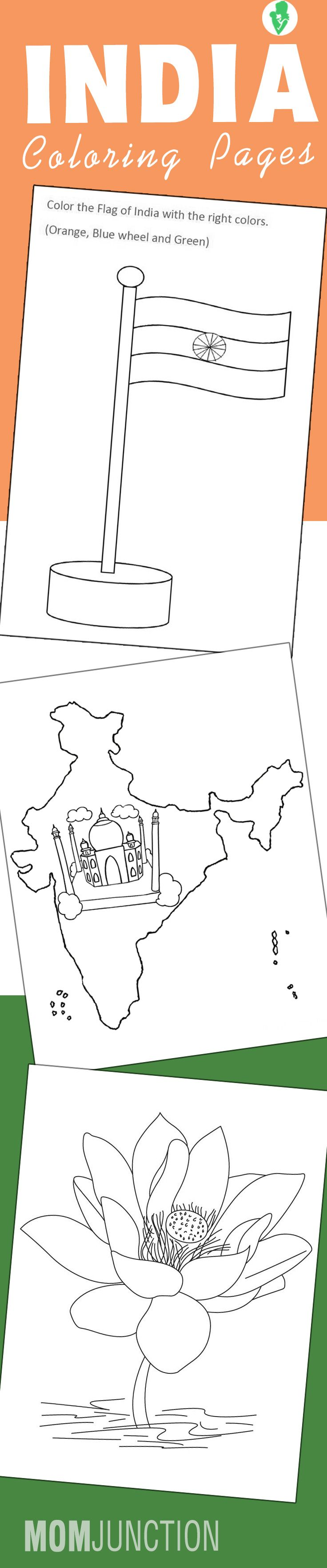 National Symbols of India coloring printable pages | Holi - Festival ...